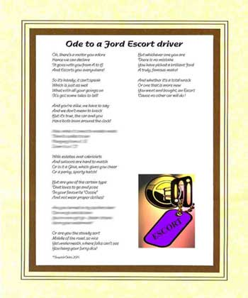 Ode to a Ford Escort Driver