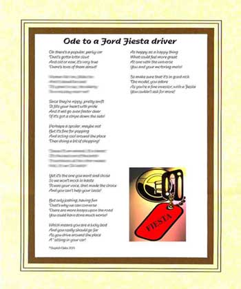Ode to a Ford Fiesta Driver