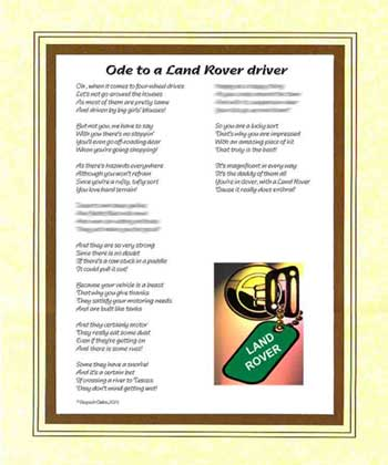 Ode to a Land Rover Driver