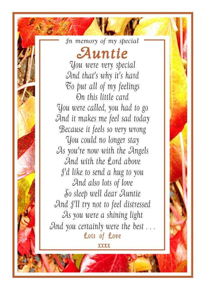Auntie Memorial Poems